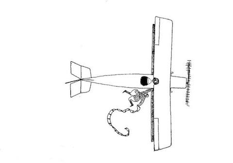 рисунок Фолкнера аэроплан